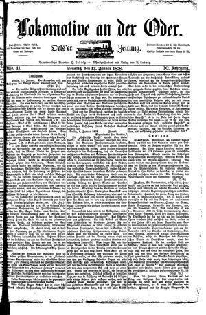 Lokomotive an der Oder vom 13.01.1878