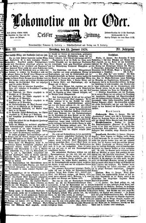 Lokomotive an der Oder vom 15.01.1878