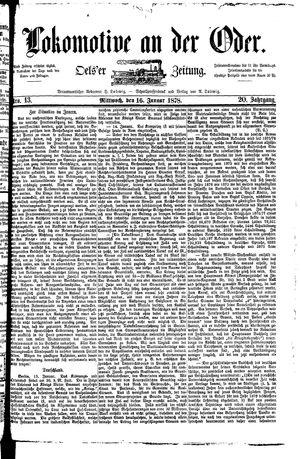 Lokomotive an der Oder vom 16.01.1878