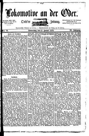 Lokomotive an der Oder vom 17.01.1878