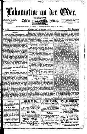 Lokomotive an der Oder vom 18.01.1878
