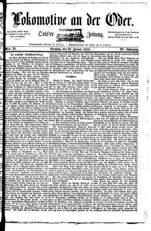 Lokomotive an der Oder vom 22.01.1878