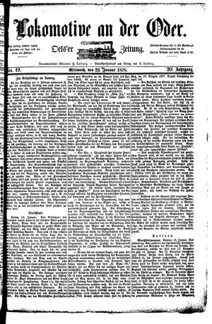 Lokomotive an der Oder vom 23.01.1878