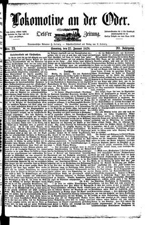 Lokomotive an der Oder vom 27.01.1878