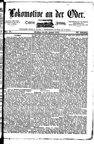 Lokomotive an der Oder vom 29.01.1878