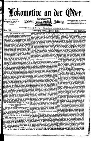 Lokomotive an der Oder vom 31.01.1878