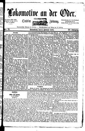 Lokomotive an der Oder vom 02.02.1878