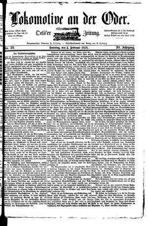 Lokomotive an der Oder vom 03.02.1878
