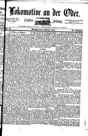 Lokomotive an der Oder vom 06.02.1878