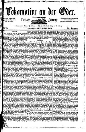 Lokomotive an der Oder vom 09.02.1878
