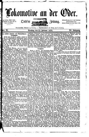 Lokomotive an der Oder vom 12.02.1878