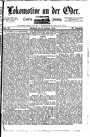 Lokomotive an der Oder vom 13.02.1878