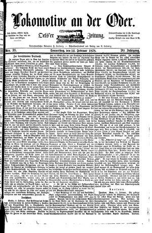 Lokomotive an der Oder vom 14.02.1878