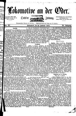 Lokomotive an der Oder vom 16.02.1878
