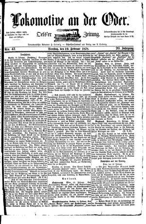 Lokomotive an der Oder vom 19.02.1878