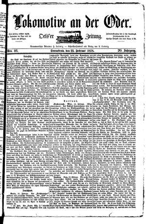 Lokomotive an der Oder vom 23.02.1878