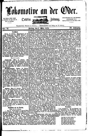 Lokomotive an der Oder vom 01.03.1878