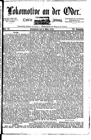 Lokomotive an der Oder vom 02.03.1878