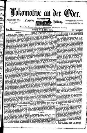 Lokomotive an der Oder on Mar 5, 1878