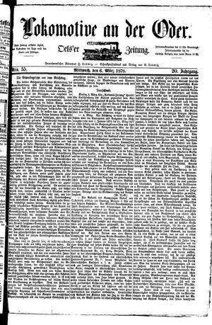Lokomotive an der Oder vom 06.03.1878