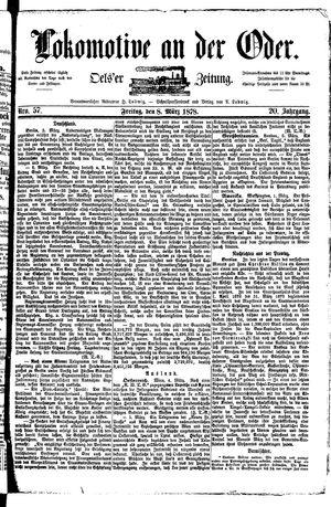 Lokomotive an der Oder vom 08.03.1878