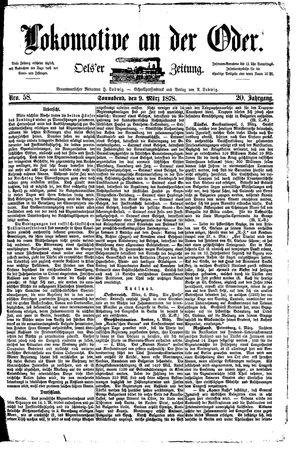 Lokomotive an der Oder vom 09.03.1878