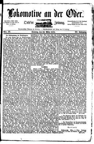 Lokomotive an der Oder vom 10.03.1878