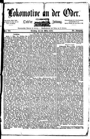Lokomotive an der Oder on Mar 12, 1878