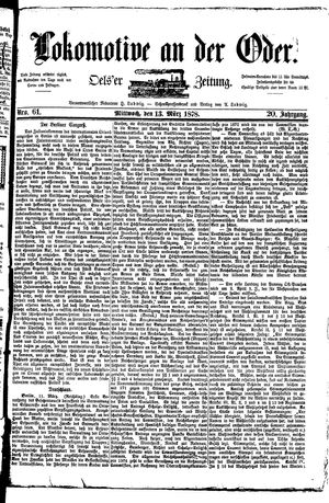Lokomotive an der Oder vom 13.03.1878