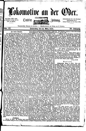 Lokomotive an der Oder vom 14.03.1878