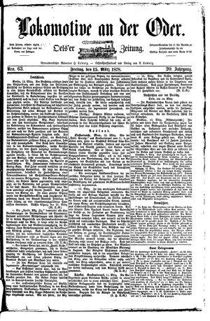 Lokomotive an der Oder vom 15.03.1878