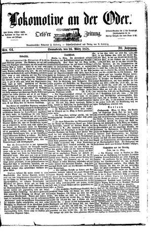Lokomotive an der Oder vom 16.03.1878