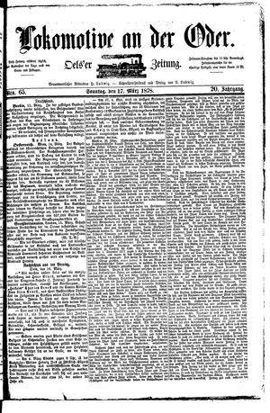 Lokomotive an der Oder vom 17.03.1878