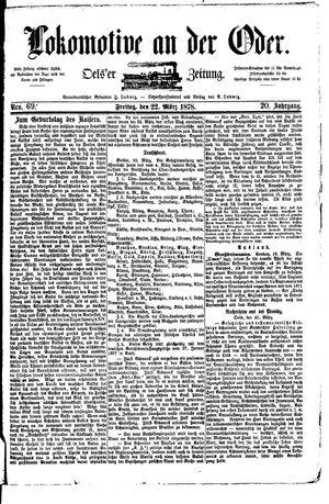 Lokomotive an der Oder vom 22.03.1878