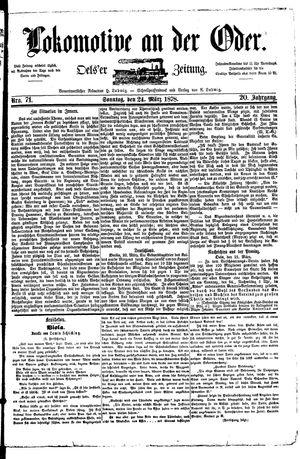 Lokomotive an der Oder vom 24.03.1878