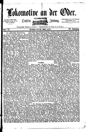 Lokomotive an der Oder vom 26.03.1878