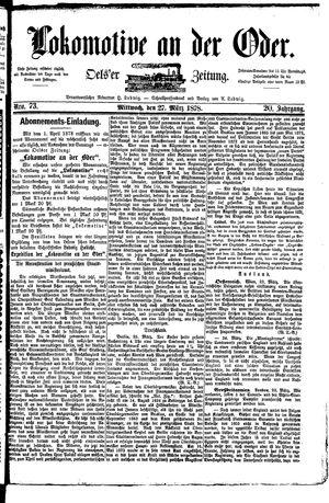 Lokomotive an der Oder vom 27.03.1878