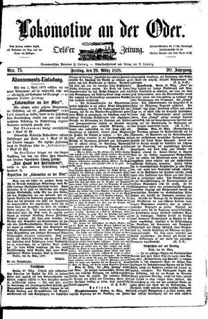 Lokomotive an der Oder vom 29.03.1878