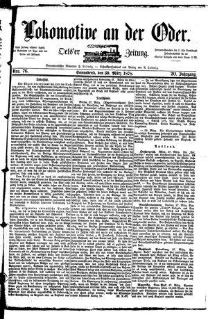 Lokomotive an der Oder vom 30.03.1878