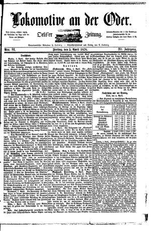 Lokomotive an der Oder on Apr 5, 1878