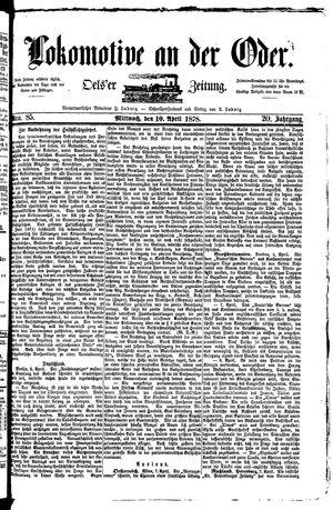 Lokomotive an der Oder on Apr 10, 1878