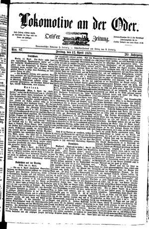 Lokomotive an der Oder vom 12.04.1878