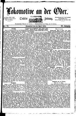 Lokomotive an der Oder vom 13.04.1878
