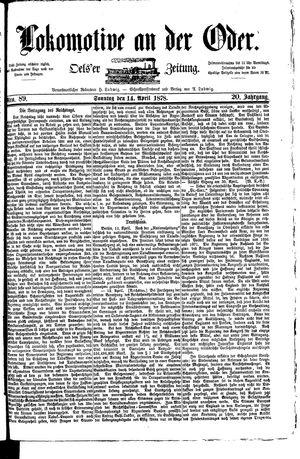 Lokomotive an der Oder vom 14.04.1878