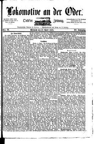 Lokomotive an der Oder vom 17.04.1878