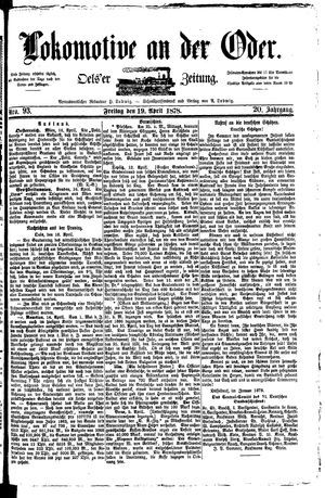 Lokomotive an der Oder vom 19.04.1878