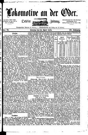 Lokomotive an der Oder vom 21.04.1878