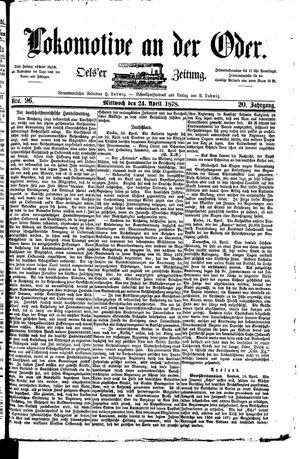 Lokomotive an der Oder vom 24.04.1878