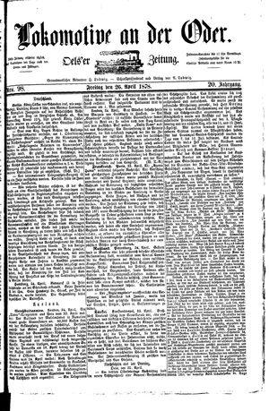Lokomotive an der Oder vom 26.04.1878