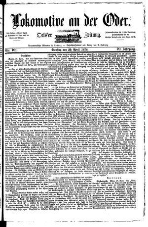 Lokomotive an der Oder vom 30.04.1878